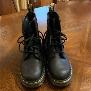 Boys Doc Martin Black Boots